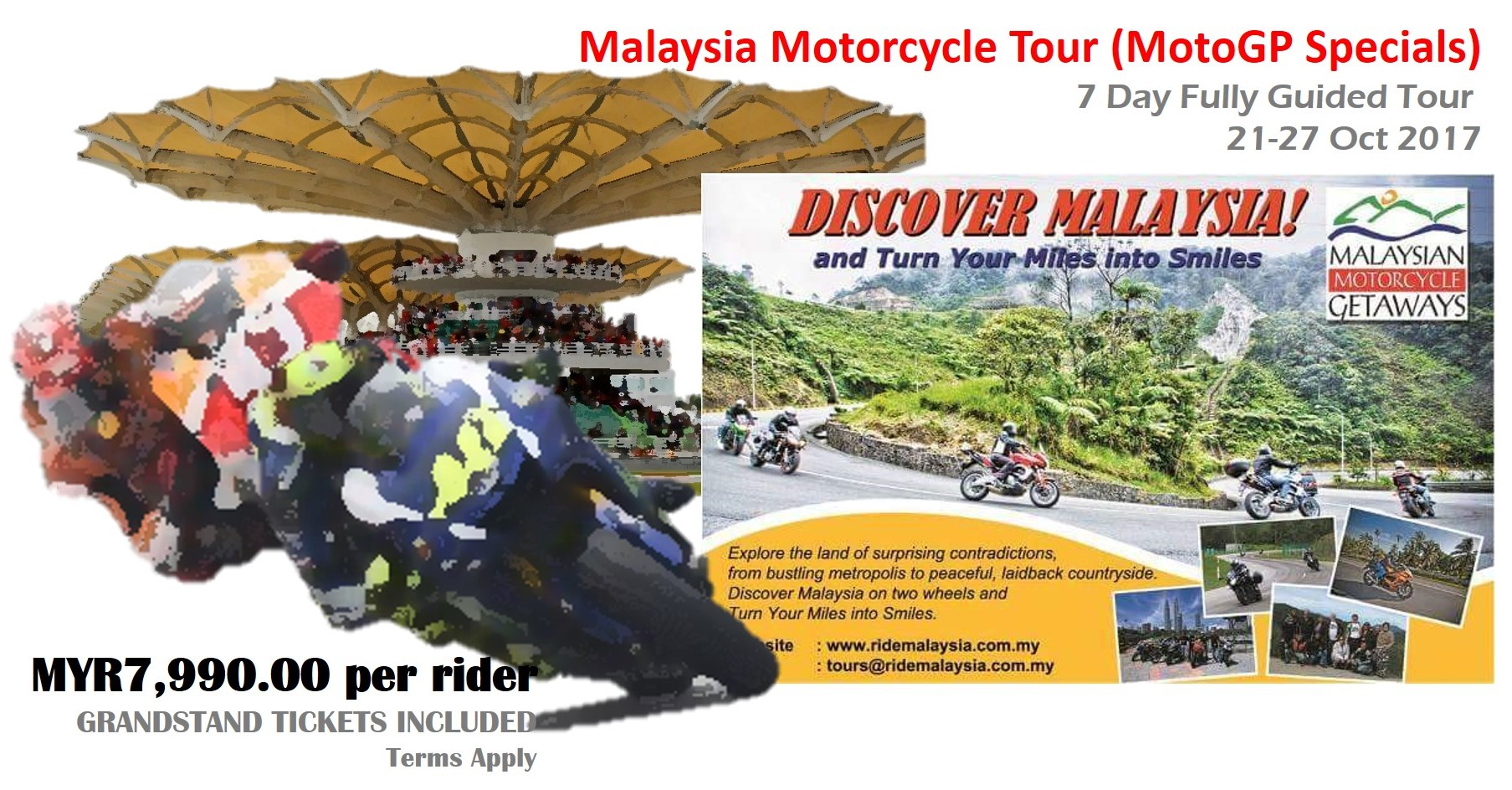 10% discount for 7-day tour MotoGP Specials