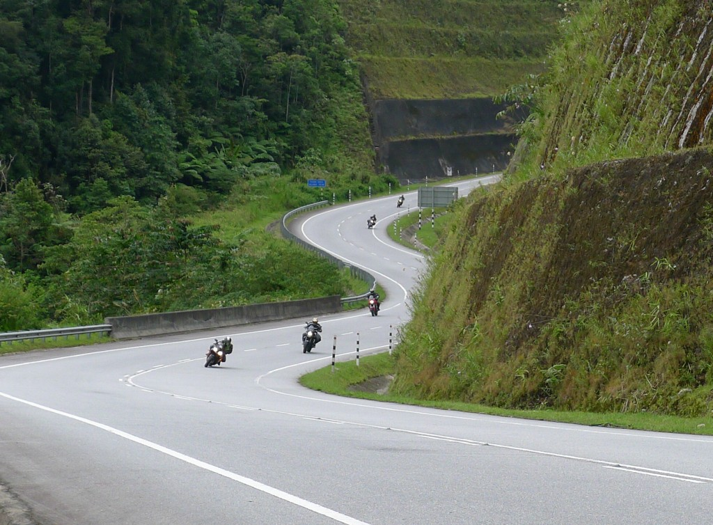 Lean it like you mean it at Cameron Highlands - Ipoh pass.
