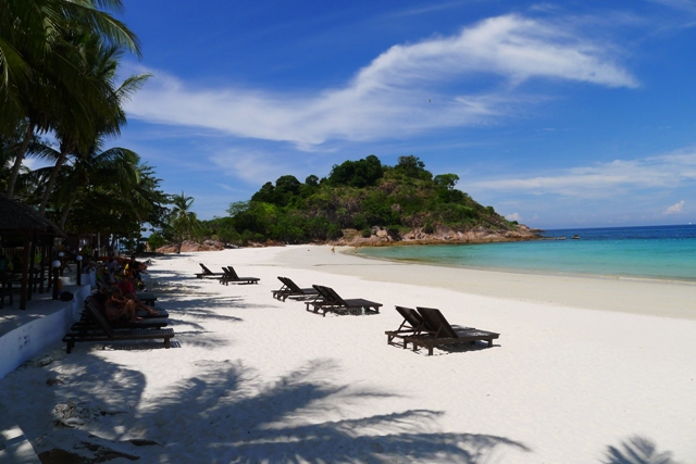 The white sandy beaches of Redang Island